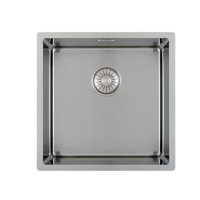 Caressi CA40R10 Square stainless steel sink