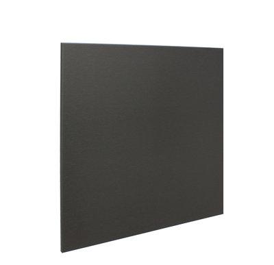 RVS achterwand geborsteld zwart 60 x 65cm