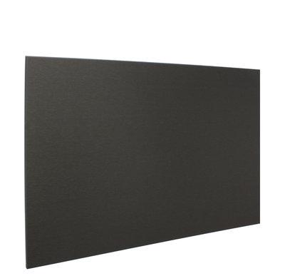 RVS achterwand geborsteld zwart 90 x 65cm