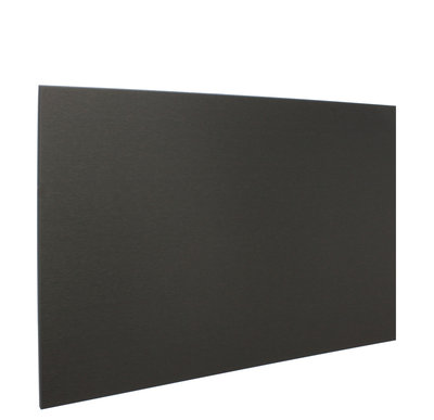 Edel Steel Keuken achterwand zwart 90x65 - EdelBlack