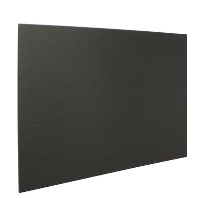RVS achterwand geborsteld zwart 90 x 70cm