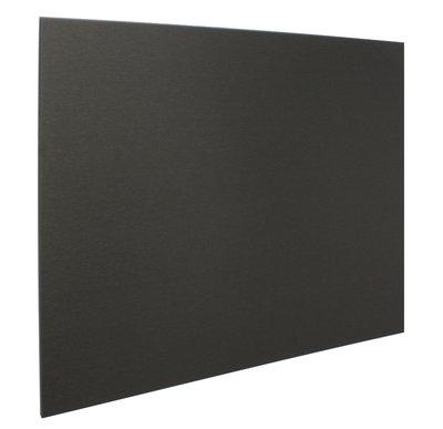RVS achterwand geborsteld zwart 90 x 75cm