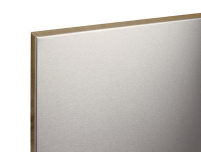 RVS Magneetbord 100x100 -Beschrijfbaar-