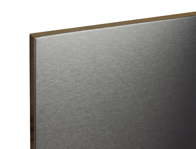 RVS magneetbord Zwart 150x75