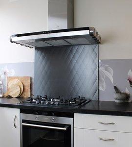 keukenachterwand zwart