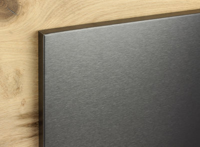 RVS magneetbord zwart op maat